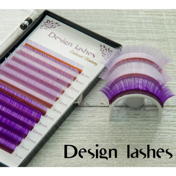 Набор цветных ресниц разной длины Design Lashes