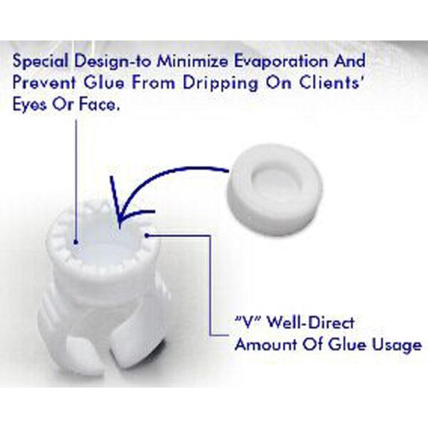 Кольцо для клея 3D пластиковое ускоряет работу лэшмейкера