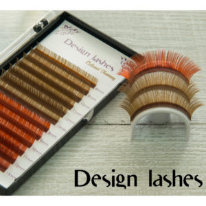 Цветные ресницы (brown + red brown) Design Lashes