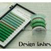 Цветные ресницы (Lgreen + green) Design Lashes